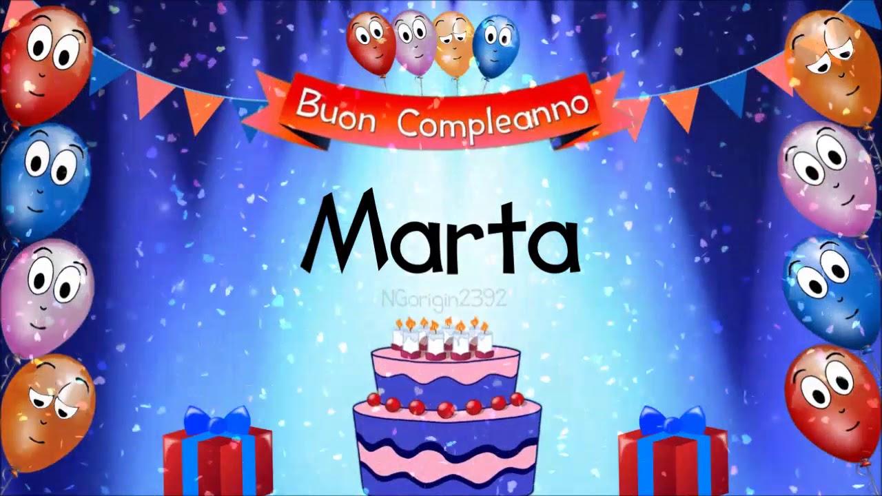Tanti Auguri Di Buon Compleanno Marta