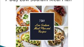 7 Day Low Sodium Meal Plan