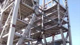 космодром Восточный--мобильная башня обслуживания