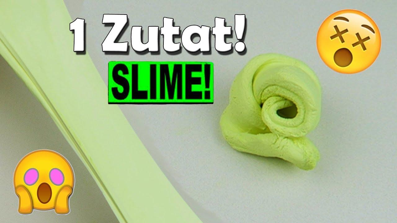 Patafix Slime Aus 1 Zutat Ohne Kleber Und Kontaktlinsenlösung Youtube