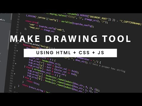 Drawing App   HTML CANVAS   Draw Anything You Want Using It