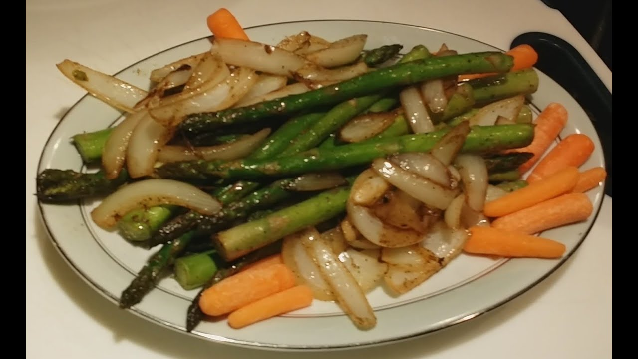 How To Pan Frying Asparagus With Sauteed Onion Recipe