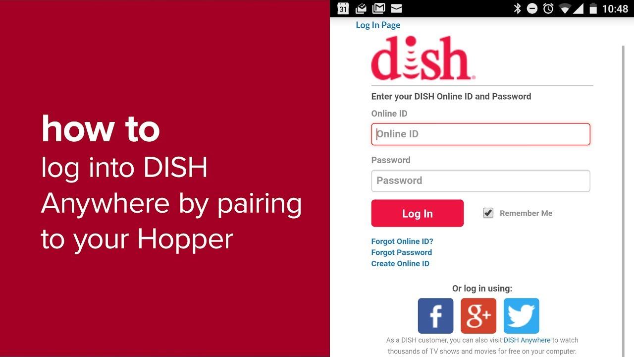 dish username and password free