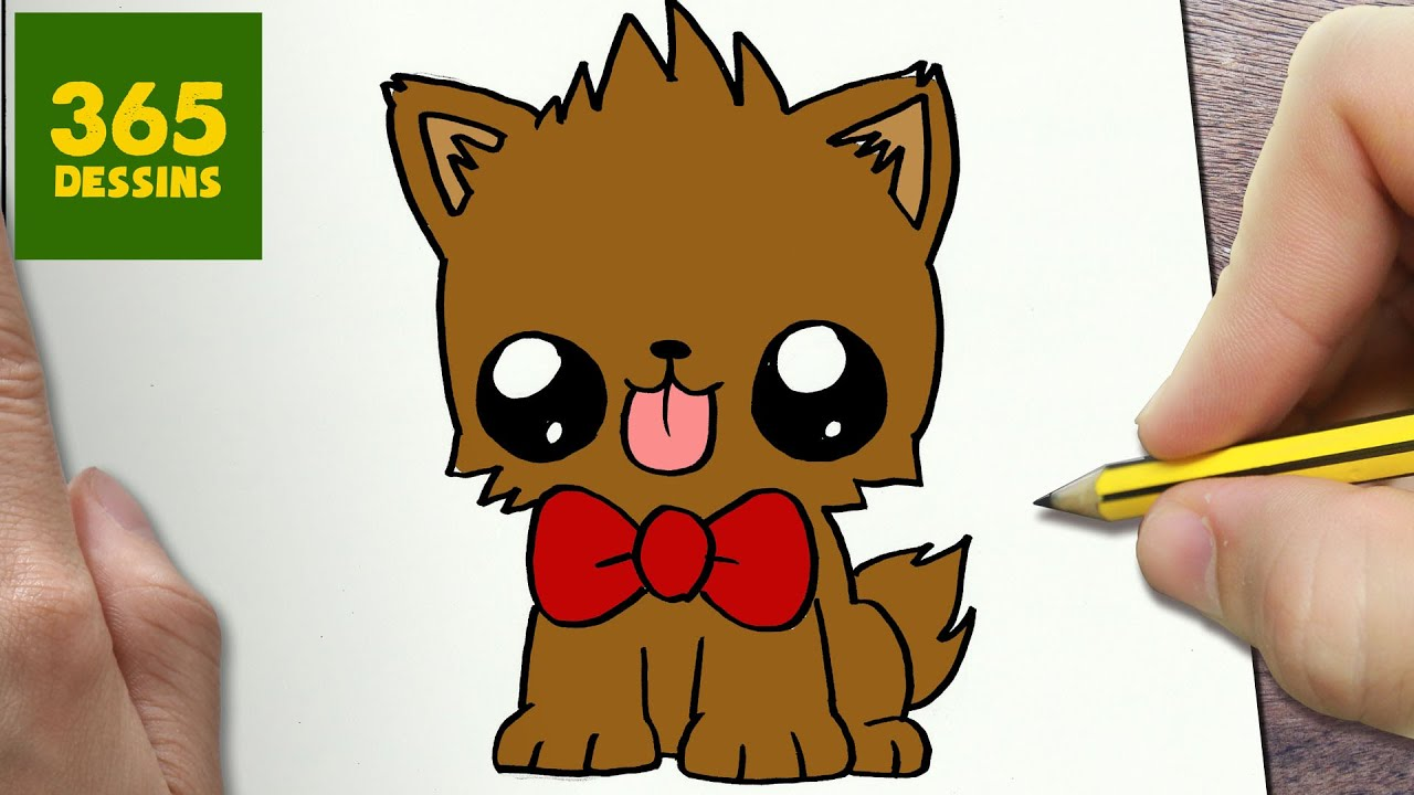 Comment Dessiner Puppy Kawaii étape Par étape Dessins Kawaii Facile