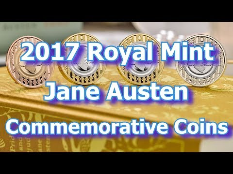 Jane Austen Remembered by Royal Mint on New Commemorative Coins