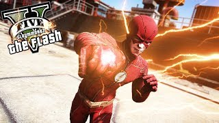 The flash season4 w/ lightning punch! (gta 5 flash mod)