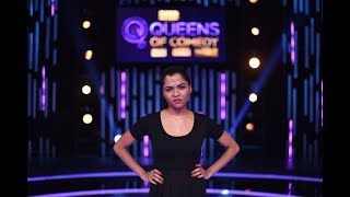 vuclip Saadiya Ali - You better not pick a PEA for her   Queens of Comedy Entry