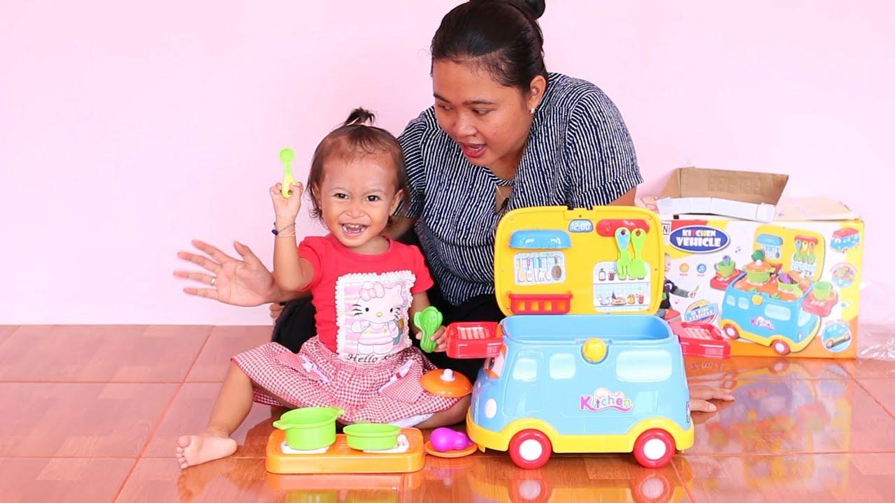 Unboxing Mainan Anak Balita Lucu Mobil Masak Masakan ...