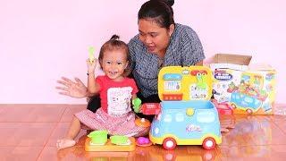 Unboxing Mainan Anak Balita Lucu Mobil Masak Masakan - Kitchen Vehicle Fast Food For Kids