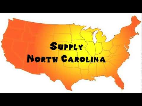 How to Say or Pronounce USA Cities — Supply, North Carolina