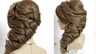 New bridal hairstyle for long hair tutorial.