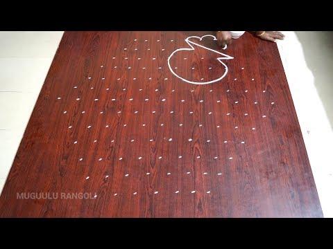 pongal kolam with dots pongal kolam rangoli designs with dots sankranti muggulu with dots