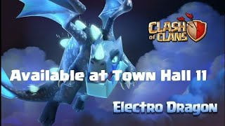Clash of clan : Electro dragon attack