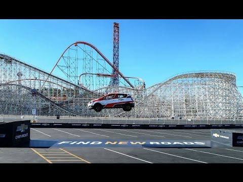 Rob Dyrdek Chevrolet Sonic Guinness World Record : Farthest Reverse Ramp Jump