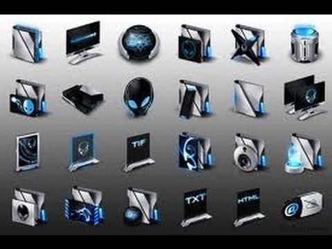 b18dc71f44d56 iconos alienware-blue y los vox para iconpackager para mis suscriber -  YouTube