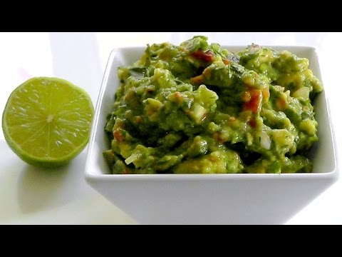 Mexican food GUACAMOLE:  How to make healthy snack recipe