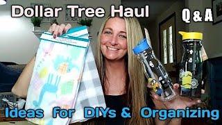 Dollar Tree Haul  Q & A DIY Ideas How I Organize Pool Toys Funny Ending  June 2019