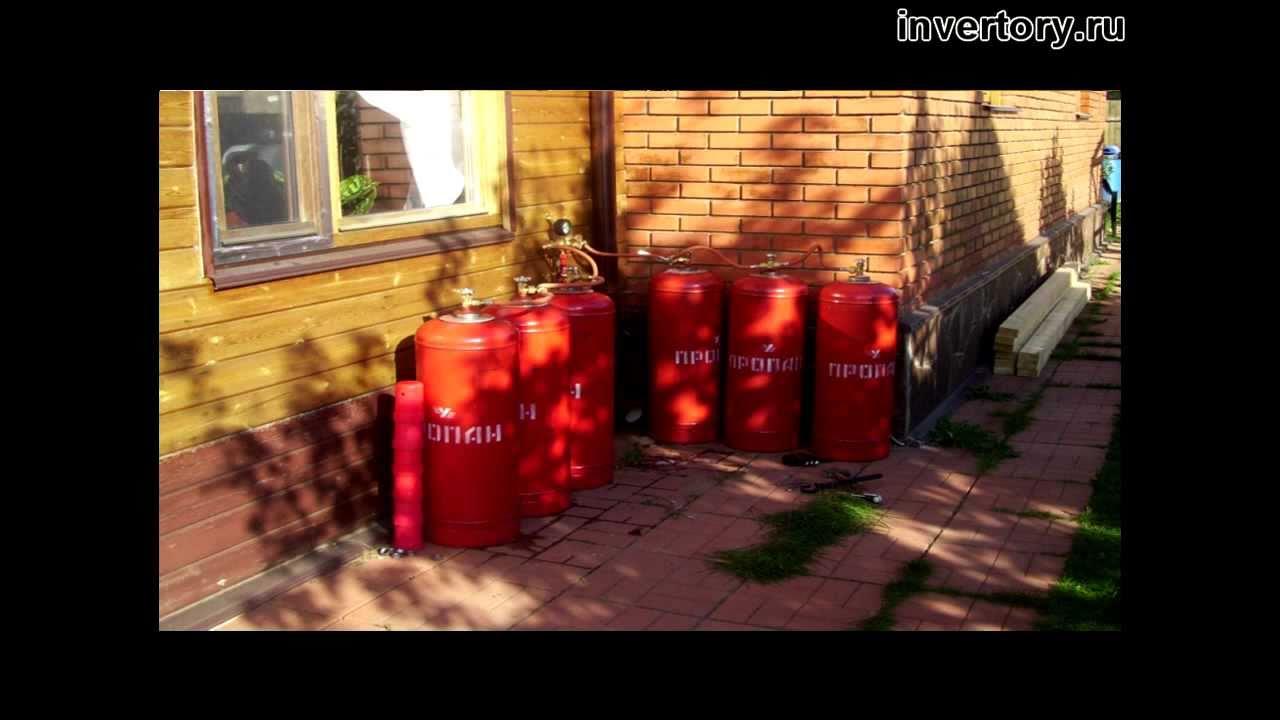 Мобильный газгольдер-прицеп с водяным обогревом - YouTube