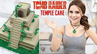 TOMB RAIDER TEMPLE CAKE - NERDY NUMMIES