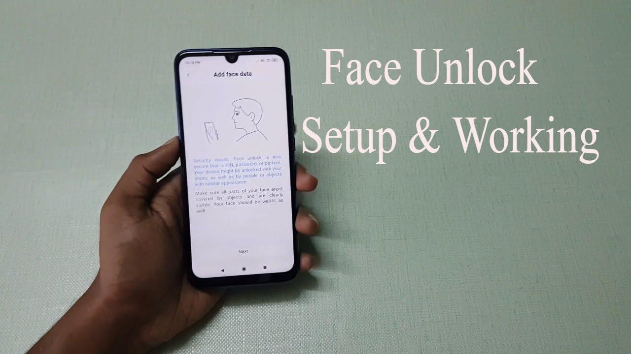 Xiaomi Redmi Note 7 Pro Face Unlock Setup & Working