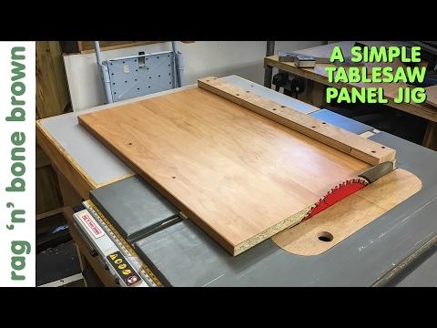 Simple Panel Cutting Jig For DeWalt DW745 Tablesaw