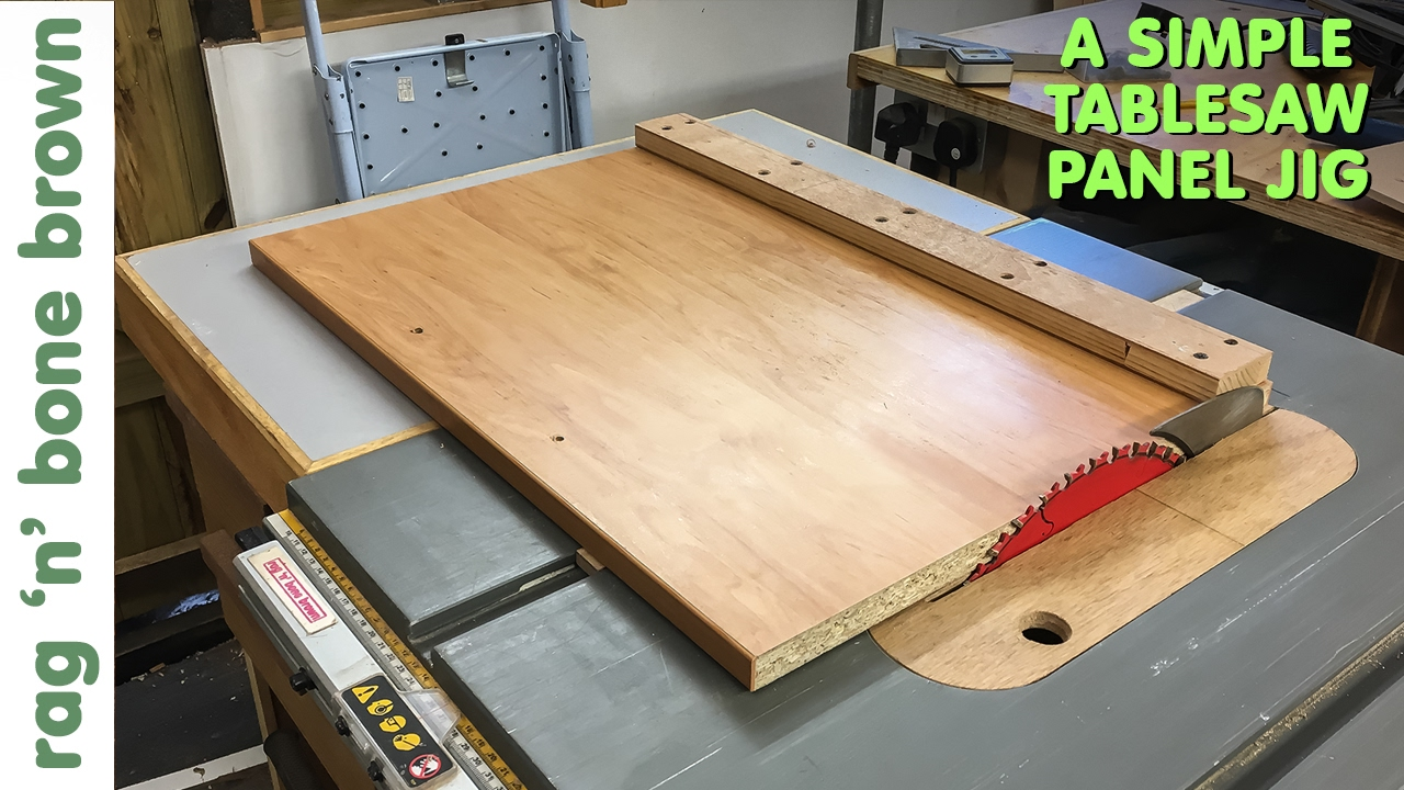 Simple Panel Cutting Jig For Dewalt Dw745 Tablesaw Youtube