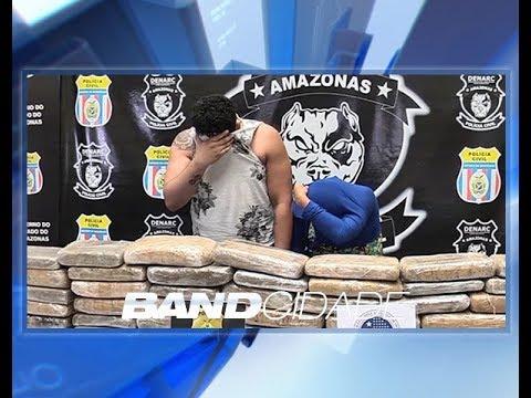 Casal é preso com 20 kg de maconha na Avenida Eduardo Ribeiro