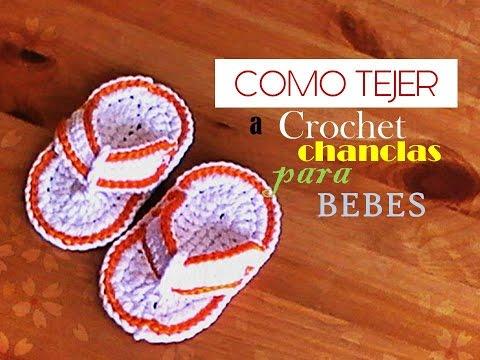 772bce8b7 COMO TEJER a crochet unas CHANCLAS para BEBE (diestro) - YouTube