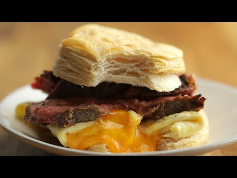 Steak, Egg & Cheese Breakfast Sandwich • Tasty
