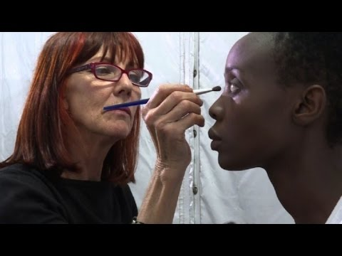 Sitting pretty - models get ready for South Africa fashion week