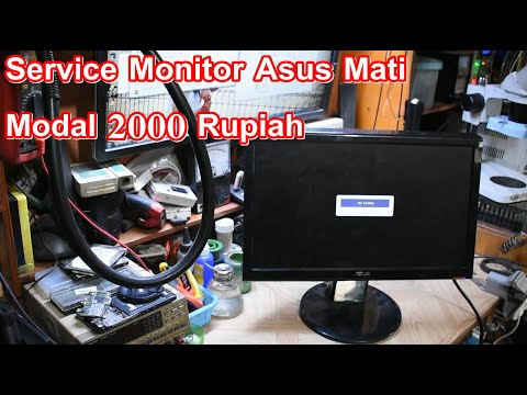Repair Led Monitor Asus Dead Bad caps #service vlog 10