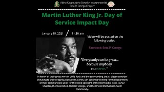 Beta Pi Omega 2021 MLK Impact Day of Service Video 01182021