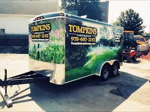 Enclosed cargo trailer wraps and graphics by ads on wheels inc youtube