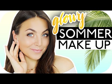 GLOWY SOMMER MAKE UP Tutorial Mit Drogerieprodukten ✨🥥 Schicki Micki