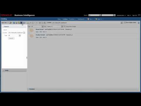 Searching the Catalog Using Oracle BI EE