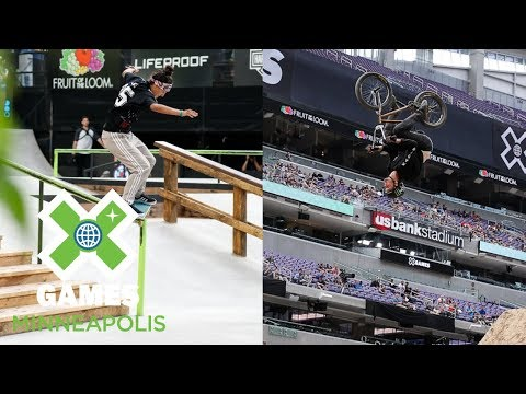 Women's Skateboard Street & Men's BMX Dirt Qualifiers: FULL BROADCAST | X Games Minneapolis 2018