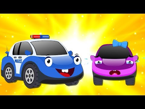 Ba Car is MISSING  Bob The Police Car on a Mission with Red Super Cars & Truck for Kids