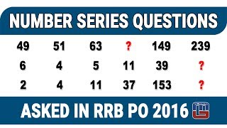 NUMBER SERIES QUESTIONS | MATHS | ASKED IN RRB PO 2016 2017 Video