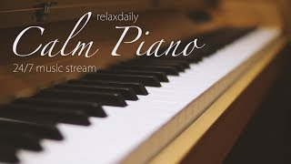 Gambar cover Calm Piano Music 24/7: study music, focus, think, meditation, relaxing music
