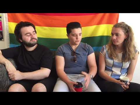 Reporter Carly Dolan interviews Cole Wykes, Cordelia Attenborough and Claire Johnston