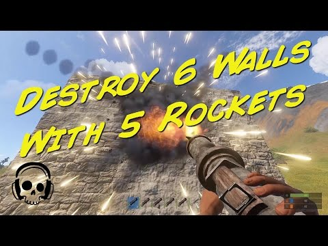 Rust Quick Tip: Destroy 6 Walls With Only 5 Rockets!