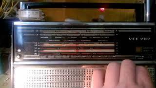 VEF 202  FM  приемник  планка,  на к174ха34,  выравнивание и расширение  шкалы.