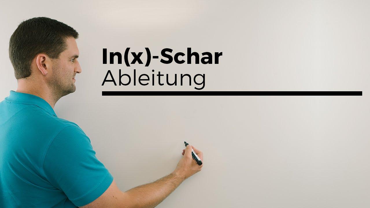 ln(x)-Schar Ableitung, Quotientenregel plus Produktregel und ...