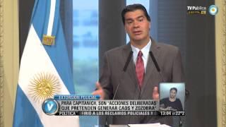 """Visión 7: Extorsión policial: Para Capitanich, """"hay intencionalidad política"""""""