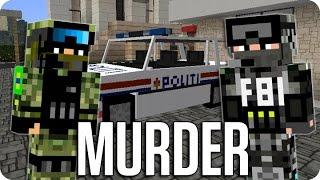¡DEMASIADA PRESION POLICIAL! MURDER   Minecraft Con Sara, Luh Y Exo