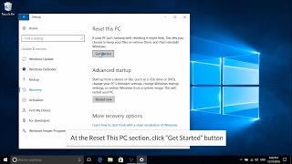 How to refresh or reset windows 10 - Updated 2017