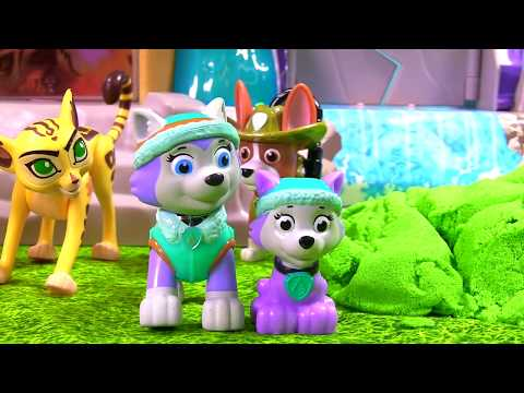 Paw Patrol Puppies Trapped in Quicksand & Need Help in the Jungle