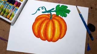 Cách vẽ quả bí ngô | How to draw pumpkin