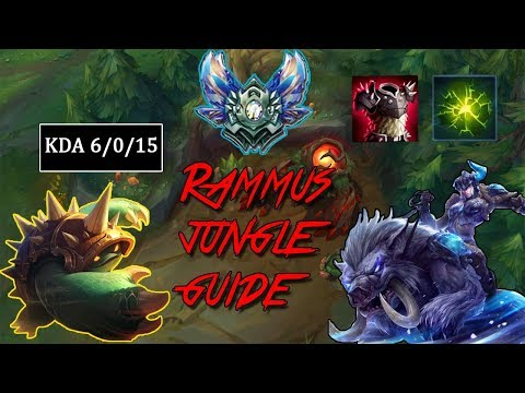 How to Jungle Rammus | Guide | League Patch 8.6  | Diamond | Gameplay | Commentary |