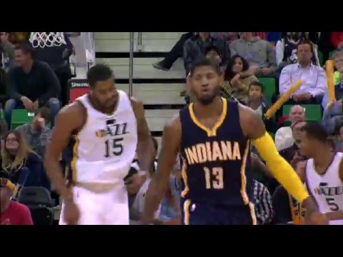 Derrick Favors and Paul George Duke it Out in Overtime Thriller